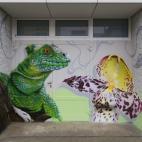 Fassadengestaltung, Graffiti Echse
